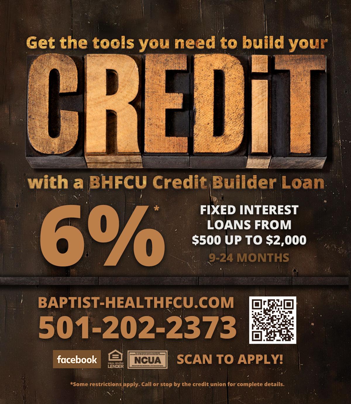 Credit Build Loans 6% APR*
