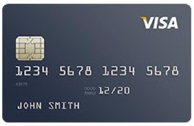 VISA credit card image