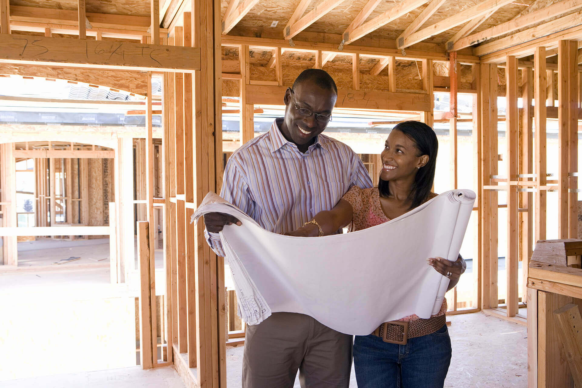 Couple with Plans for New Home