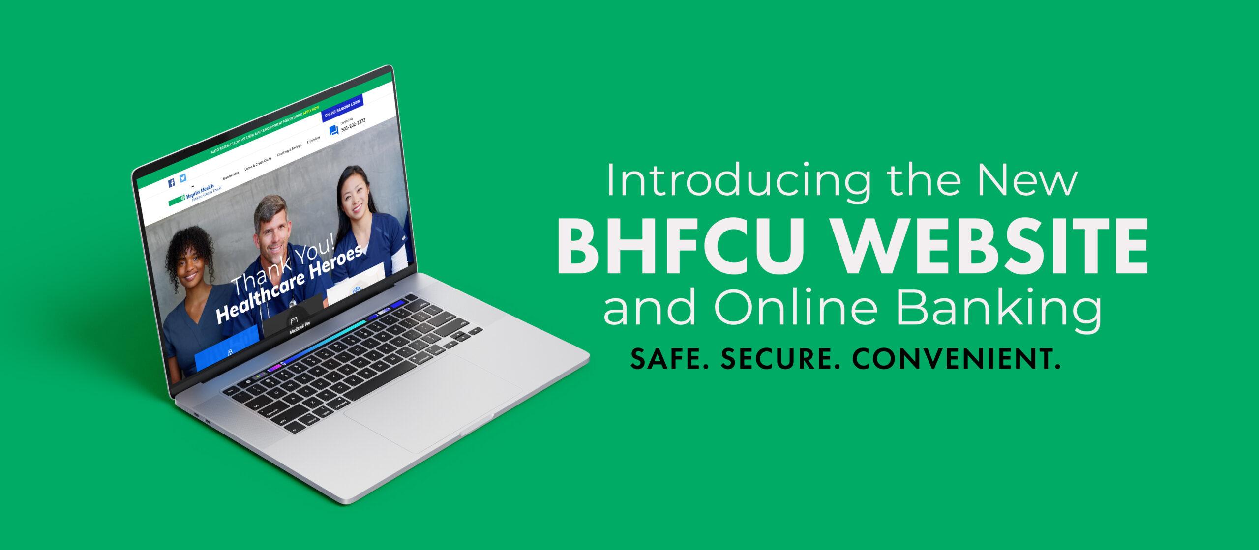 BHFCU Computer Mockup